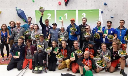 Finalists at the Open Dutch Paraclimbing Competition 2019
